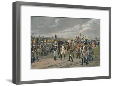'Napoleon Decorating The Russian Grenadier at Tilsitt', 1807, (1896)-Unknown-Framed Giclee Print