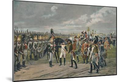 'Napoleon Decorating The Russian Grenadier at Tilsitt', 1807, (1896)-Unknown-Mounted Giclee Print
