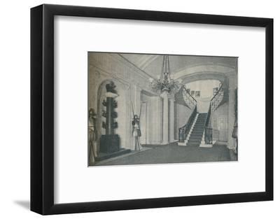 'The fine Staircase Hall in the First Lord's residence at the Admiralty', 1937-Unknown-Framed Photographic Print