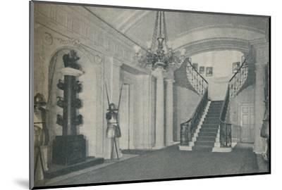 'The fine Staircase Hall in the First Lord's residence at the Admiralty', 1937-Unknown-Mounted Photographic Print
