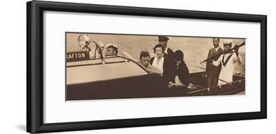 'King Edward Returning to His Yacht from the Island of Rab', 1937-Unknown-Framed Photographic Print
