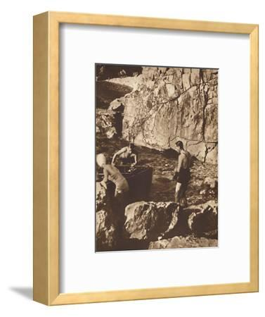 'Bathing in the Adriatic', 1937-Unknown-Framed Photographic Print