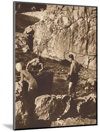 'Bathing in the Adriatic', 1937-Unknown-Mounted Photographic Print