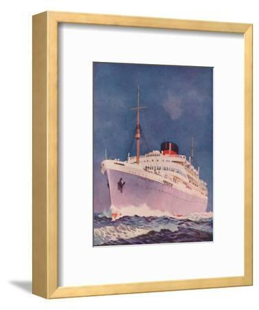 'The Attractive Colouring of the Union Castle liner Stirling Castle', 1937-Unknown-Framed Giclee Print