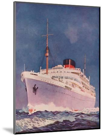 'The Attractive Colouring of the Union Castle liner Stirling Castle', 1937-Unknown-Mounted Giclee Print