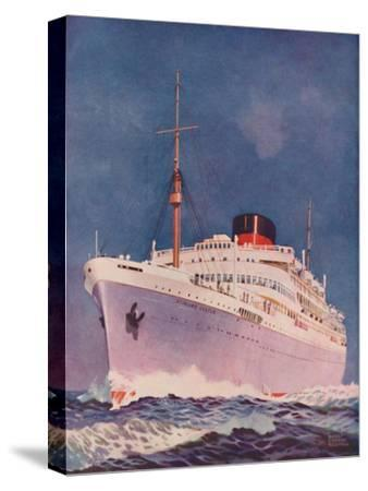 'The Attractive Colouring of the Union Castle liner Stirling Castle', 1937-Unknown-Stretched Canvas Print