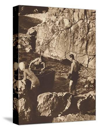 'Bathing in the Adriatic', 1937-Unknown-Stretched Canvas Print
