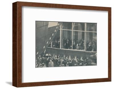 'Launching of giant new British liner the RMS Queen Mary, September 26, 1934', (1936)-Unknown-Framed Photographic Print
