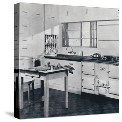 Aga Heat Ltd. The Model F Aga Cooker (for a large house)-Unknown-Stretched Canvas Print