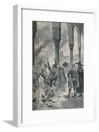 'The Burning of a Palace of Godoy By The Populace at Madrid', 1896-Unknown-Framed Giclee Print