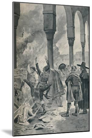 'The Burning of a Palace of Godoy By The Populace at Madrid', 1896-Unknown-Mounted Giclee Print