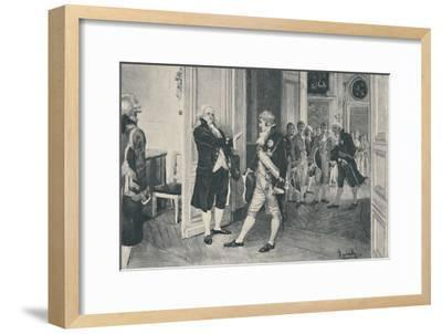 'Charles and Ferdinand at Bayonne', 1808, (1896)-Unknown-Framed Giclee Print