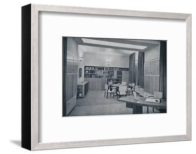 'Paul Bromberg. Combined drawing- and dining-room in a house at Rotterdam, in ivory, red-orange and-Unknown-Framed Photographic Print