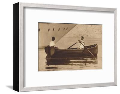 'King Edward-Oarsman', 1937-Unknown-Framed Photographic Print