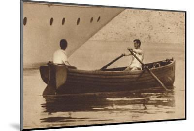 'King Edward-Oarsman', 1937-Unknown-Mounted Photographic Print