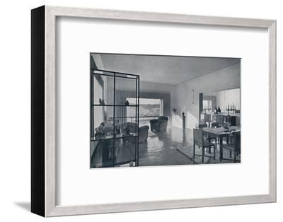 Paniconi and Pediconi. A dining room with a large window-Unknown-Framed Photographic Print