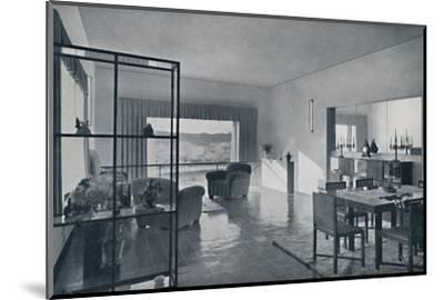 Paniconi and Pediconi. A dining room with a large window-Unknown-Mounted Photographic Print