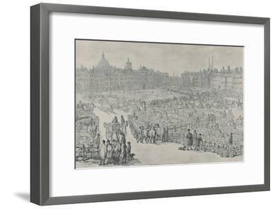'Smithfield Market, 1810', 1920-Thomas Rowlandson-Framed Giclee Print