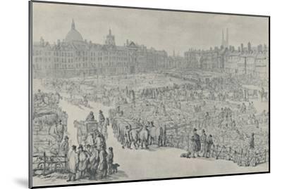 'Smithfield Market, 1810', 1920-Thomas Rowlandson-Mounted Giclee Print
