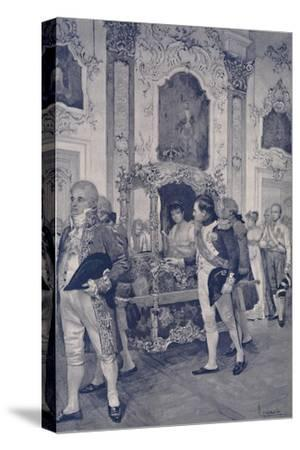 'Napoleon and the Empress of Austria at Dresden', 1812, (1896)-Unknown-Stretched Canvas Print