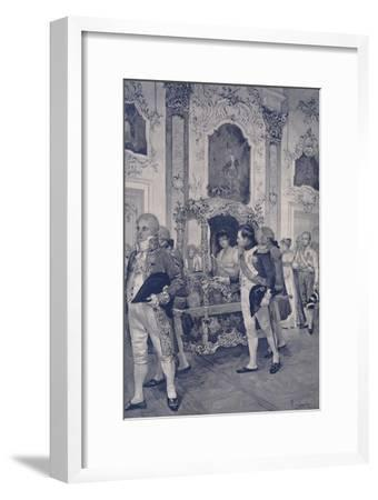 'Napoleon and the Empress of Austria at Dresden', 1812, (1896)-Unknown-Framed Giclee Print