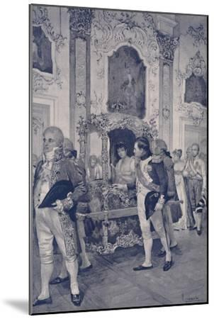 'Napoleon and the Empress of Austria at Dresden', 1812, (1896)-Unknown-Mounted Giclee Print