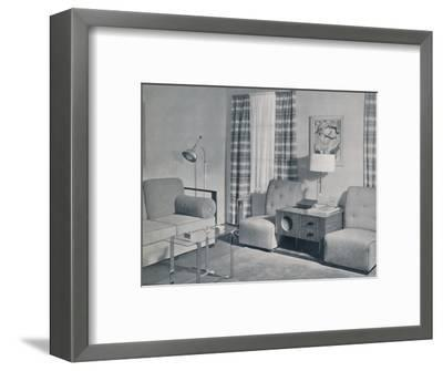 'A view in a two-room apartment in the Keeler Building, Grand Rapids, Michigan', 1935-Unknown-Framed Photographic Print