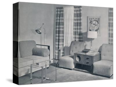 'A view in a two-room apartment in the Keeler Building, Grand Rapids, Michigan', 1935-Unknown-Stretched Canvas Print