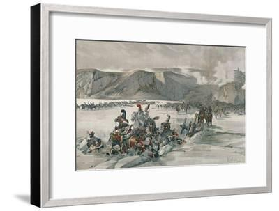 'Destruction of Retreating Russians at Satschan Lake', 1805, (1896)-Unknown-Framed Giclee Print