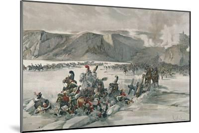 'Destruction of Retreating Russians at Satschan Lake', 1805, (1896)-Unknown-Mounted Giclee Print