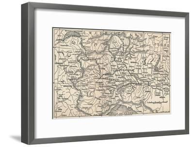 'Map of the Marengo Campaign', 1800, (1896)-Unknown-Framed Giclee Print