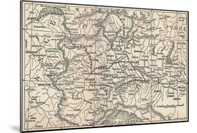 'Map of the Marengo Campaign', 1800, (1896)-Unknown-Mounted Giclee Print