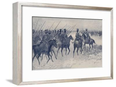 'Cossacks Awaiting A French Cavalry Charge', 1812, (1896)-Unknown-Framed Giclee Print