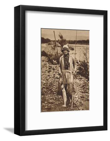 'With a catch at Tokanu, New Zealand', c1927, (1937)-Unknown-Framed Photographic Print