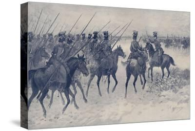 'Cossacks Awaiting A French Cavalry Charge', 1812, (1896)-Unknown-Stretched Canvas Print