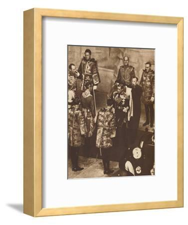 'His First Parliament Opened', 1937-Unknown-Framed Photographic Print