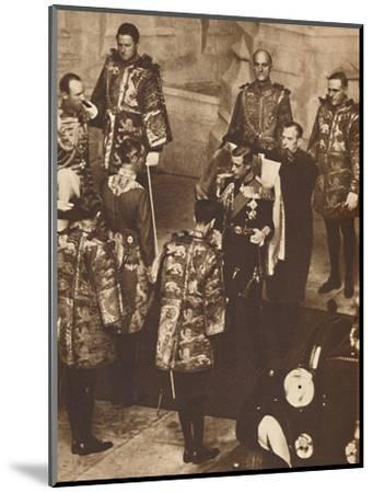 'His First Parliament Opened', 1937-Unknown-Mounted Photographic Print