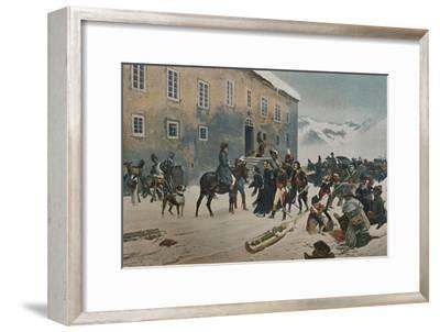 ''Bonaparte Received By The Monks of Mount St. Bernard. Passage of the Alps, May 1800', (1896)-Unknown-Framed Giclee Print