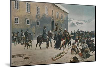 ''Bonaparte Received By The Monks of Mount St. Bernard. Passage of the Alps, May 1800', (1896)-Unknown-Mounted Giclee Print