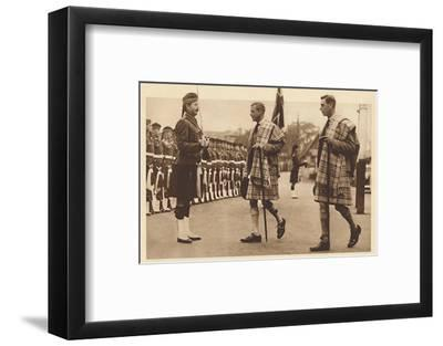 'Wearing the Balmoral Tartan', Balmoral, 1936 (1937)-Unknown-Framed Photographic Print