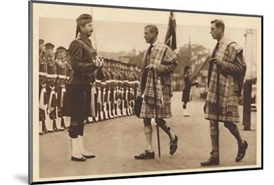 'Wearing the Balmoral Tartan', Balmoral, 1936 (1937)-Unknown-Mounted Photographic Print