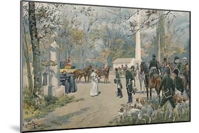 'The Meeting of Napoleon and Pius VII at Fontainebleau', 1813, (1896)-Unknown-Mounted Giclee Print