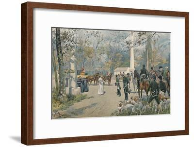 'The Meeting of Napoleon and Pius VII at Fontainebleau', 1813, (1896)-Unknown-Framed Giclee Print