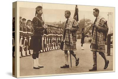 'Wearing the Balmoral Tartan', Balmoral, 1936 (1937)-Unknown-Stretched Canvas Print