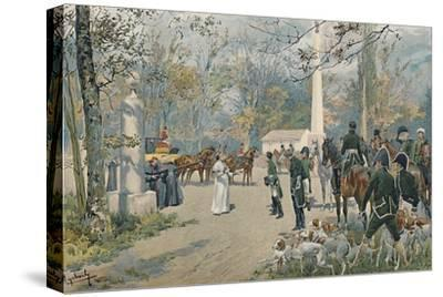 'The Meeting of Napoleon and Pius VII at Fontainebleau', 1813, (1896)-Unknown-Stretched Canvas Print