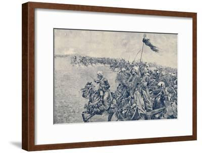 'Charge of the Mamelukes at the Battle of Austerlitz', 1896-Unknown-Framed Giclee Print
