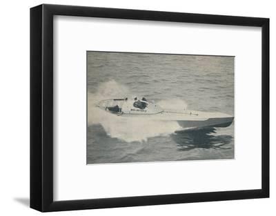 '1936 world's fastest single-engined boat Miss Britain III', 1936-Unknown-Framed Photographic Print