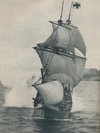 'Drake's flagship on his voyage round the world, replica', 1937-Unknown-Framed Photographic Print