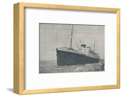 'Leaving the Landing Stage at Liverpool', 1936-Unknown-Framed Photographic Print