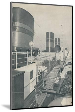 'Three Funnels of the Monarch of Bermuda, the Furness Withy luxury liner', 1937-Unknown-Mounted Photographic Print